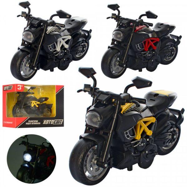 Коллекционная игрушечная модель мотоцикла инерционная