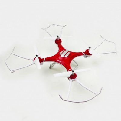 Квадрокоптер на радиоуправлении Syzygy S2 с защитой лопастей (красный)