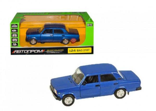 Коллекционная игрушечная машина Жигули ВАЗ инерционная синяя