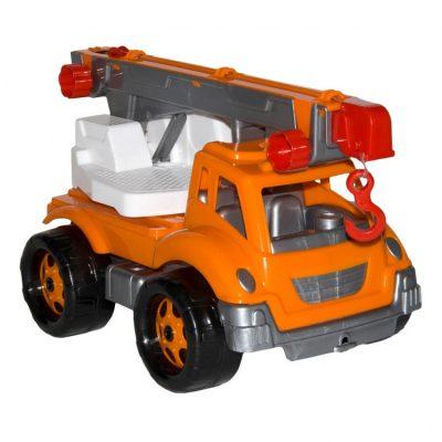 Детская машина  «Автокран» Оранжевый