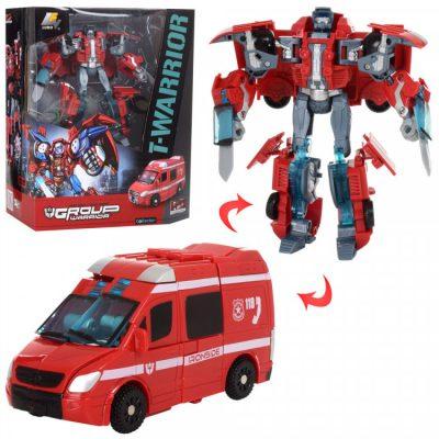 Детский трансформер «Скорая помощь+робот»