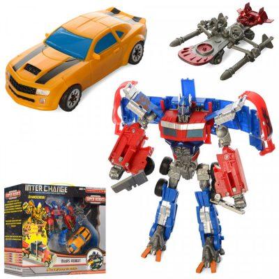 Детский набор трансформеров, 2 робота в 1м наборе с оружием