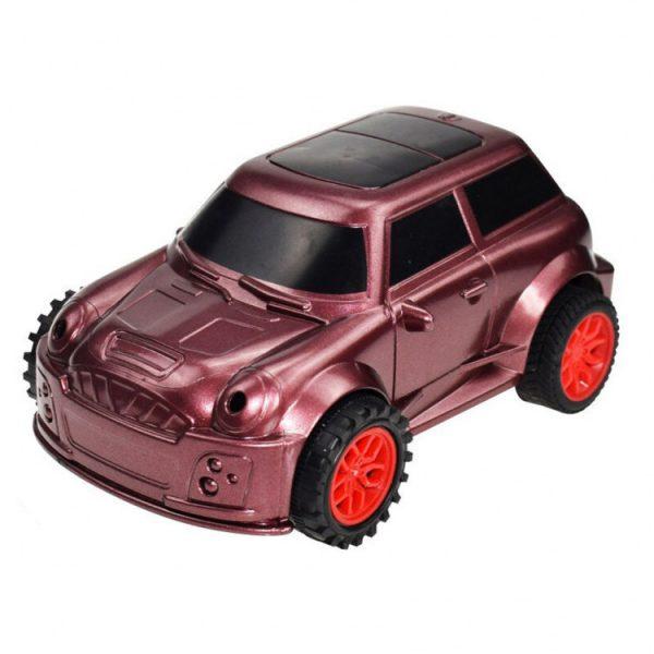 Детская машина, которая ездит по нарисованной линии. Красная
