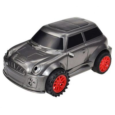 Детская машина, которая ездит по нарисованной линии. Серебристая