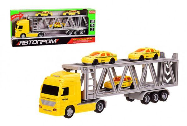 Игрушечный Трейлер с прицепом автовоз со звуковыми эффектами «АВТОПРОМ»