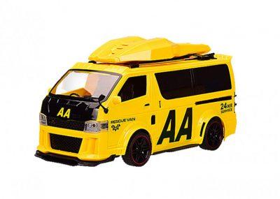 Игрушечная машинка Бус с багажником на крыше «АВТОПРОМ» со звуковыми эффектами, желтый