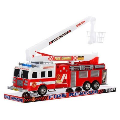 Детская пожарная машина со стрелой инерционная