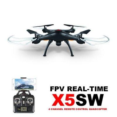 Квадрокоптер на радиоуправлении Syma X5SW с камерой (черный)