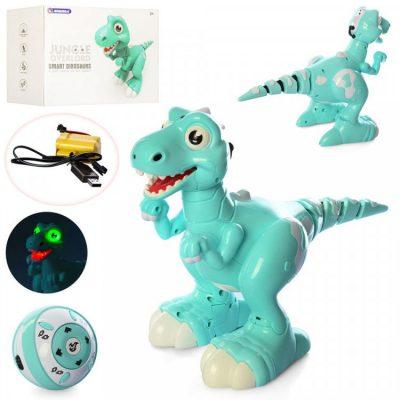 Динозавр на радиоуправлении JIABAILE 908B умеет ходить и шевелить хвостом