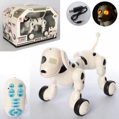 Интерактивная игрушка - робот-собака на радиоуправлении 6013-3 со звуком и светом