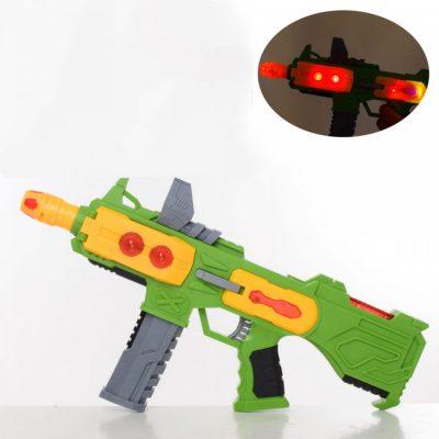 Детский игрушечный автомат со звуковыми эффектами. Зеленый