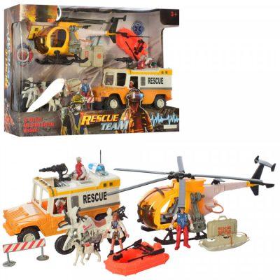 Детский игровой набор спасателей с пожарной машинкой