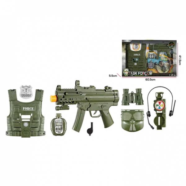 Игровой набор Военного с бронежилетом и маской