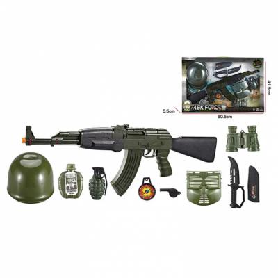 Детский игровой набор Военного с игрушечным автоматом АК-47