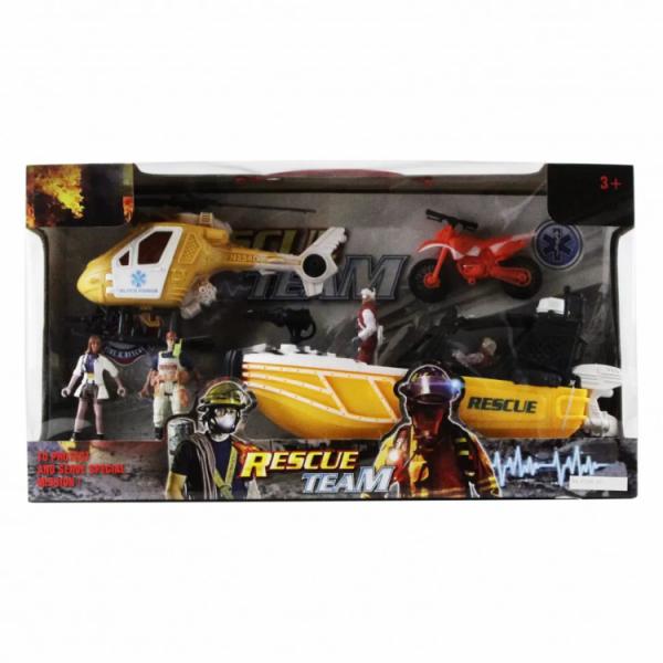 Детский игровой набор Спасателей «Лодка» с фигурками