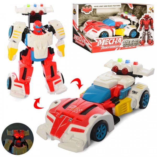 Игрушечный трансформер «Робот+машинка» Красный