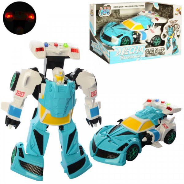 Игрушечный трансформер «Робот+машинка» Голубая