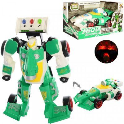 Игрушечный трансформер «Робот+машинка» Зеленый