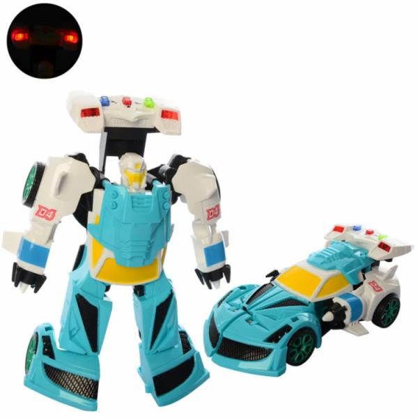 Детский трансформер «робот+машинка» Бирюзовый