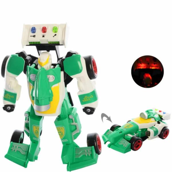 Детский трансформер «робот+машинка» Зеленый