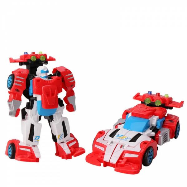 Детский трансформер «робот+машинка» Красно-белый