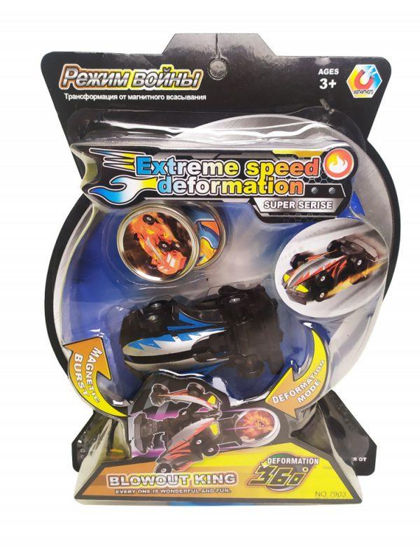 Машинка-трансформер «Скритчер» с магнитным диском, черный