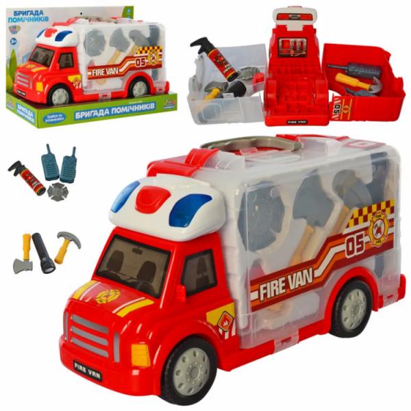 Игровой набор Пожарного, машинка со звуковыми и световыми эффектами