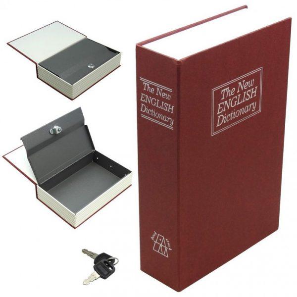 Книга - сейф большая «Словарь» 24 см, бордовая