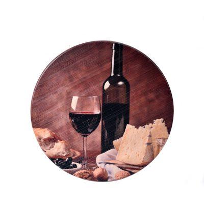 Доска для сыра «Натюрморт Вино с бокалом»