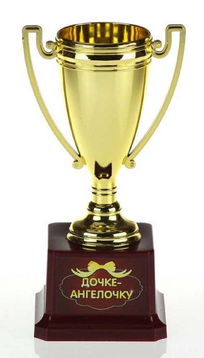 Кубок керамика «Дочке-ангелочку» с чашей