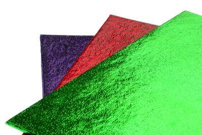 Фольга для упаковки подарков 50*70 см, уп 50 шт, зеленая
