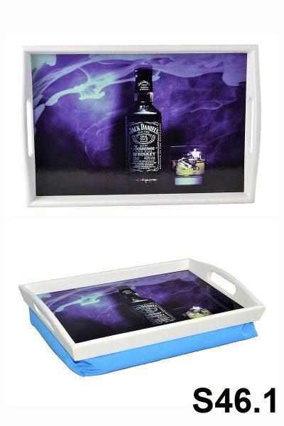 Поднос подушка с ручками белый «Jack Daniels»