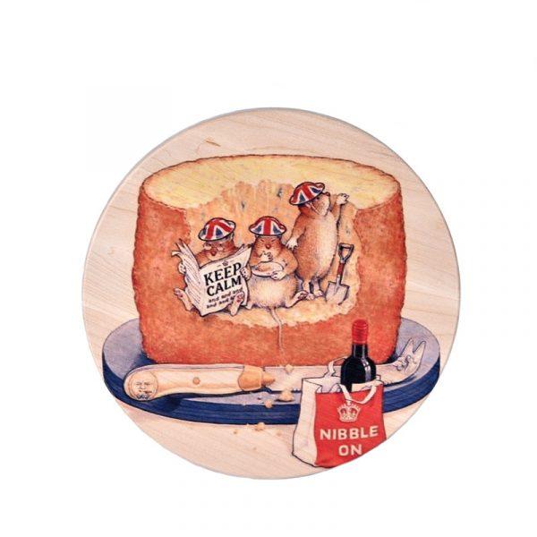 Доска для сыра «Мышки Keep Calm»