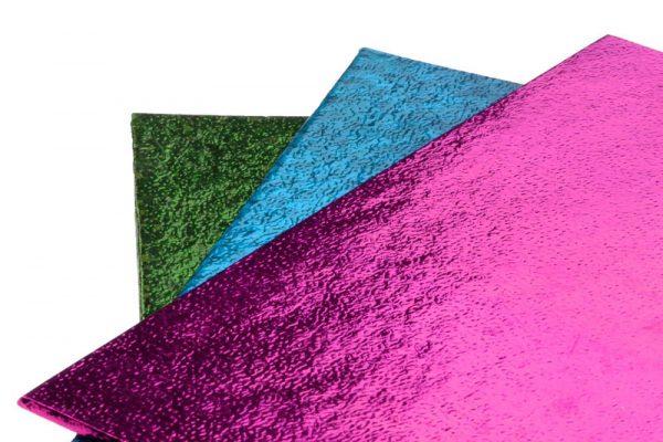 Фольга для упаковки подарков 50*70 см, уп 50 шт, розовая