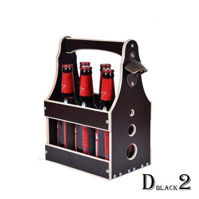 Подарочный ящик для пива черный 6*0,33