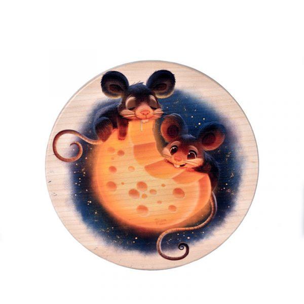 Доска для сыра «Мышки на сыре»