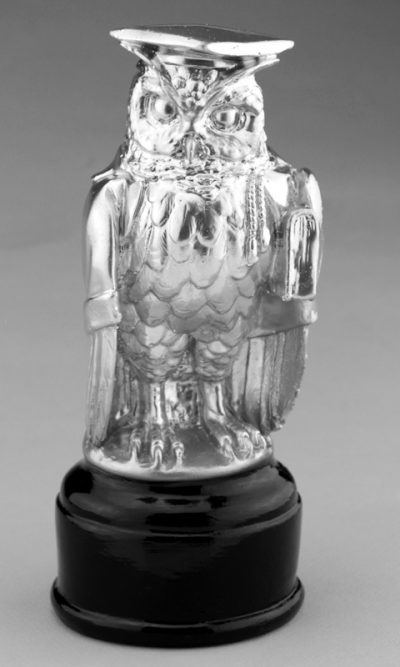 Кубок «Мудрая Сова Бакалавр» 22 см, серебро