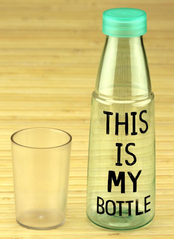 Бутылка со стаканом «MY BOTTLE / NICE DAY»