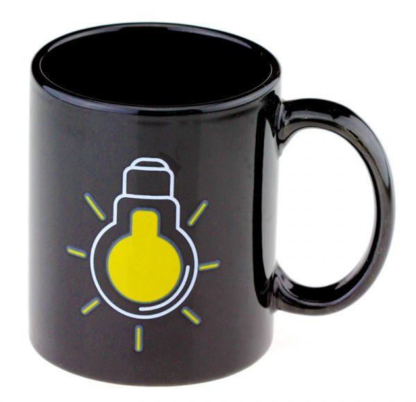 Чашка с терморисунком «Лампочка» черная Chameleon хамелеон
