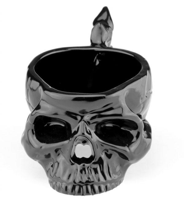 Кружка «Череп с костями» черная