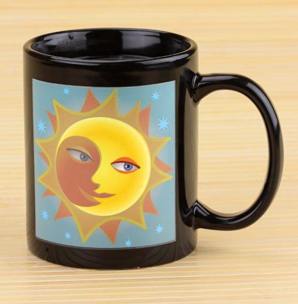 Чашка с терморисунком «День и ночь Chameleon» хамелеон