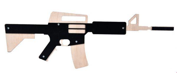 Деревянный автомат «М16» сувенирное оружие