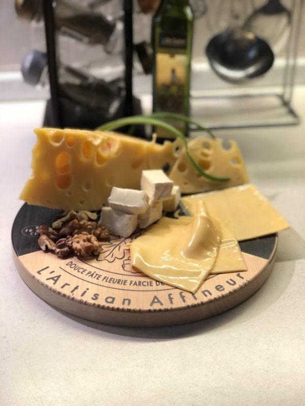 Доска для сыра «Два бокала»