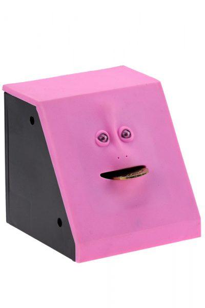 Копилка мордочка в стене «Facebank» розовая