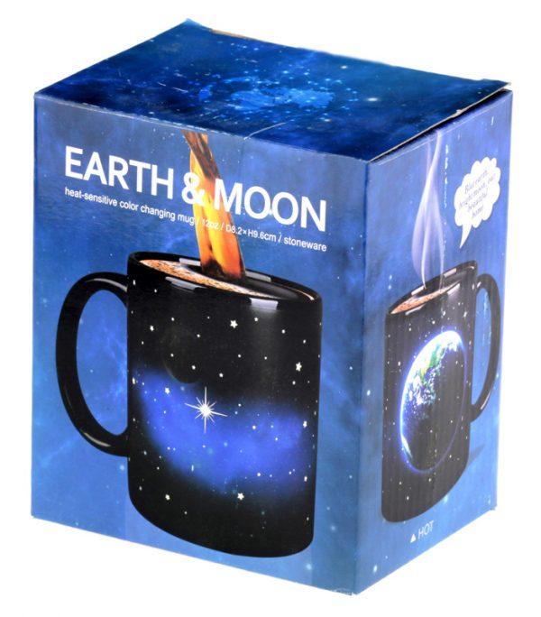 Чашка с терморисунком «Вселенная Earth & Moon» Chameleon хамелеон