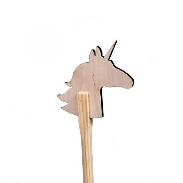 Деревянная лошадка скакалка «Единорог» большая без ручек