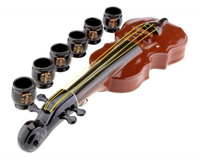 Подарочный набор «Скрипка + 6 рюмок»