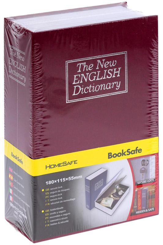 Книга - сейф «Словарь» 18 см, цвет бордовый