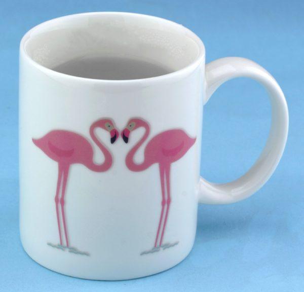 Чашка с терморисунком «Фламинго»