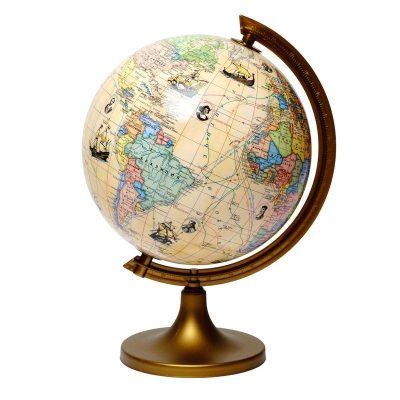 Глобус с маршрутами землепроходцев с описанием Glowala 250 мм